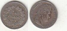 Monnaie 1/4 Franc Louis Philippe 1835 A