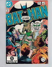 Batman 359  1st Killer Croc Cover!  VF! 1983