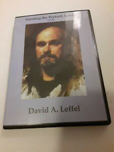David Leffel: Painting the Portrait,  Lewis in Oil • Art Instruction DVD • VG •