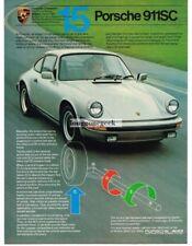 1981 Porsche 911 SC  No. 15 in a Series Vtg Print Ad