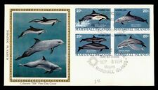 DR WHO 1984 MARSHALL ISLANDS DOLPHINS BLOCK FDC COLORANO C173195