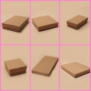 12 x Pack Natural Brown Kraft Paper Gift Boxes  - Wholesale / Bulk Buy