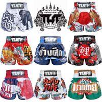 TUFF Muay Thai Boxing Shorts Black Blue Red White Elephant Training Kick MMA