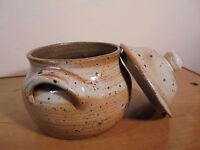 Céramique Vintage 60 Superbe pot couvert grès pyrité Signé dlg Puisaye La Borne