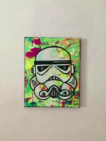 Storm Trooper Star Wars 8x10 Pop Art Painting UC reactive black light glow