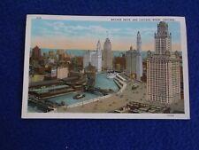 Postcard ~ Wacker Drive and Chicago River ~ IL ~ UNUSED