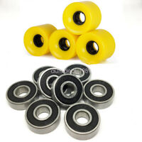 New 8pcs Abec-9 Bearing +4PCS Pro Skateboard LongBoard Cruiser Board  Wheel 60mm
