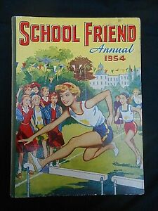 ** THE SCHOOL FRIEND ANNUAL 1954 ** Unclipped & Unmarked FREE UK POSTAGE