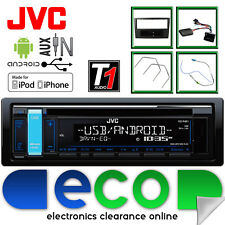 Vauxhall Astra H JVC CD MP3 USB Car Stereo Black Fascia & Steering Wheel Kit