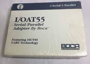 Vintage Boca Research I/OAT55  2 Serial 1 Parallel Adapter Card NEW SEALED