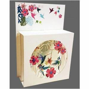 Forever Pop Up 3D Multi-layered Magic Box Card - Hummingbirds