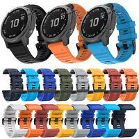26mm Silikon Armband Uhrenarmband für Garmin Fenix 6X /Fenix 5X /Fenix 3 HR /D2