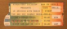 1978 Queen Jazz Tour Cincinnati Concert Ticket Stub Freddie Mercury Brian May