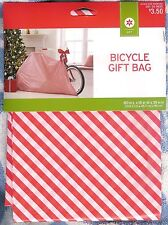 "Huge Gift Bag For Bicycle ~Bike / Other ~Red & White Stripe ~80""L X 18""W X 39""H"