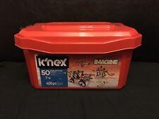 K'nex Imagine 50 Model Big Value Building Set 408pc Red Tub Brand NEW