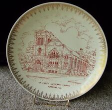 St Paul's Lutheran Church Plate Altamont Illinois Effingham County Red & White