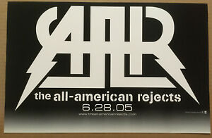 ALL AMERICAN REJECTS Rare 2005 PROMO POSTER BANNER w/DATE for Move CD 17x11 USA
