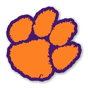 Clemson Tigers (Paw) Precision Cut Decal