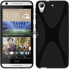TPU Silicone Case For HTC Desire 626 626S 626G- Black Soft X Line Gel Skin Cover