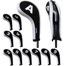 12 Pcs Neoprene Golf Iron Head Covers Set Fits Callaway Ping Taylormade Titleist