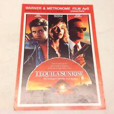 Tequila Sunrise Mel Gibson Michele Pfeiffer Vtg 1998 Danish Movie Press Release