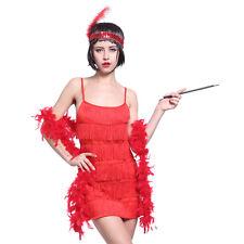 Red Fringe Flapper Dress