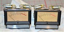 (2) Vintage Weston 2032 VU Meter Level Indicator Panel Mount