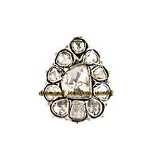 Cut Diamond Silver Ring Jewelry Artdeco Estate 2.72Cts Genuine Solitaire Antique
