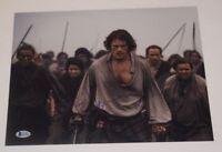 Sam Heughan Signed Autographed 11x14 Photo OUTLANDER Beckett BAS COA