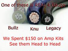 KnuKonceptz TRUE 4 Gauge Complete Amp Amplifier Install Wiring Kit 4 AWG