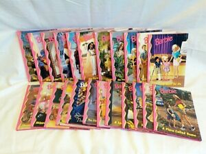 Set of 23 Barbie and Friends Book Club Hard Cover Books 1998 & 1999