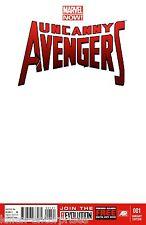 Uncanny Avengers #1 Blank Variant 2012 Comic Book - Marvel