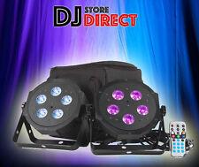 American DJ Adj VPAR Pak 40w RGBA LED Stage Wash Light 2x Par Can Bag Remote