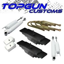 """Fits 99-04 Ford F250 F350 SD 3"""" Front + 2"""" Rear Lift Leveling Kit 4x4 Shocks"""