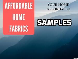 2 Affordable home fabric samples