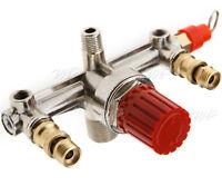 Good Quality Air Compressor Double Outlet Tube Pressure Regulator Holder Fitting