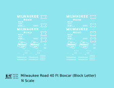 K4 N Decals Milwaukee Road 40 Ft Boxcar White Block Letter