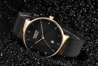 New Men's North Black & Gold Color Luxury Dress Watch