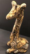 Safari Print Patchwork Ceramic Giraffe