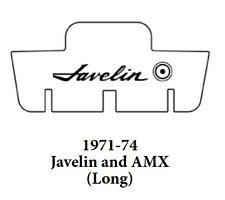 1971 1974 AMC Javelin Trunk Rubber Floor Mat Cover with A-005 Javelin
