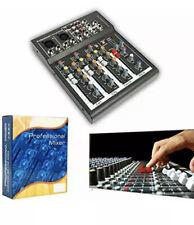 Professional 4/7 Channel Live Studio Audio Sound Usb Compact Mixer Mixing (4