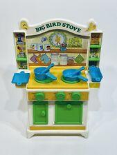 Vintage 1982 Playskool Sesame Street Big Bird Kitchen Stove Rare With Accesories