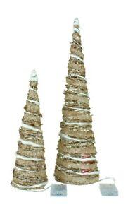 2er Set LED Baum konisch Pyramide 30 LEDs warmweiß Lichterpyramide Lichterkegel
