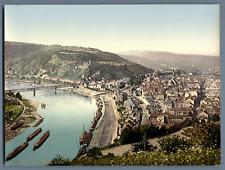 Böhmen. Aussig, vom Marienberge. PZ vintage photochromie,  photochromie, vinta
