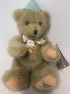 "Dakin CHERISHED TEDDIES Two Sweet Two Bear Plush Teddy Bear Jointed 12"" EUC 1994"