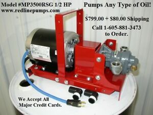 New Redline 1/2 HP Waste Oil/Bulk Oil Transfer Pump, Heaters,Burners,Mineral Oil