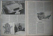 1967 Fiat Dino Spider Original Autosport magazine Road test