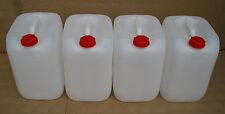 4 x 20 L Kanister weiß, natur Camping Plastekanister Kunststoffkanister Behälter