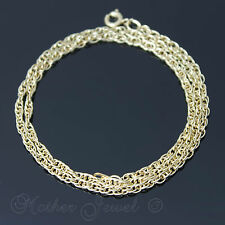 45CM 18CT YELLOW GOLD GP NECKLACE MENS WOMENS DESIGNER TWIST CHAIN 18 INCHES