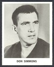 1965 COCA-COLA COKE DONALD DON SIMMONS EX-NM  TORONTO MAPLE LEAFS HOCKEY CARD